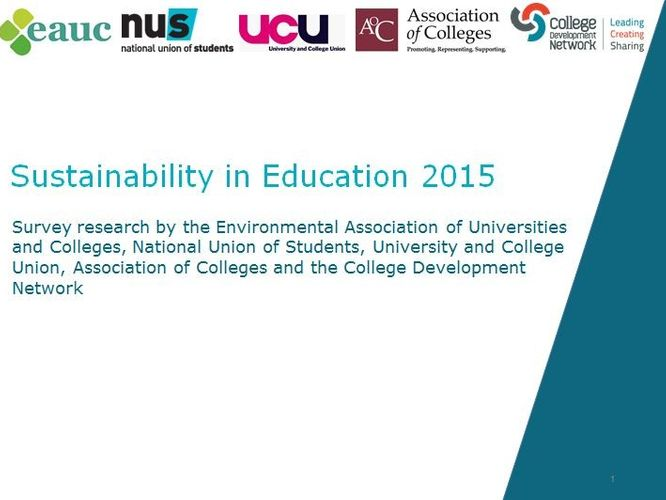 The State of Sustainability in Tertiary Education