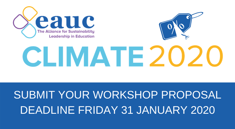 Submit your workshop proposal for CLIMATE 2020