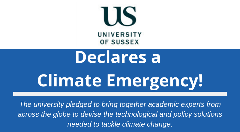 University of Sussex declares climate emergency