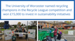 The University of Worcester named recycling champions image #1