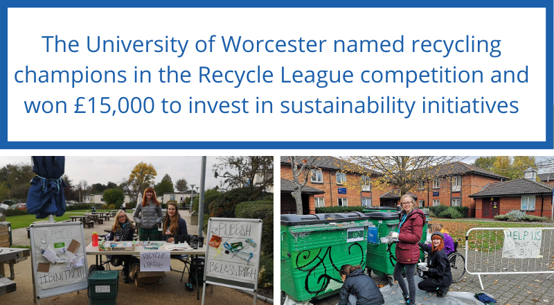 The University of Worcester named recycling champions