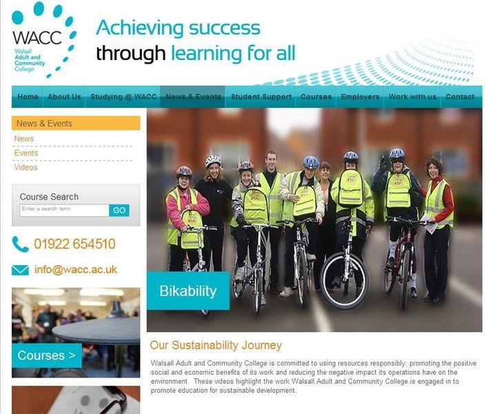 WACC sustainability journey website