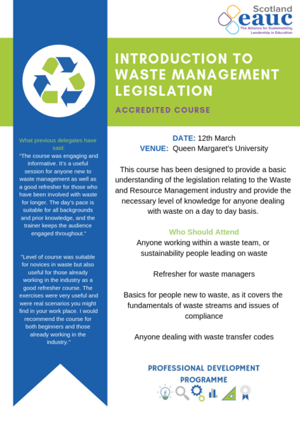 Introduction to Waste Management Legislation accredited course