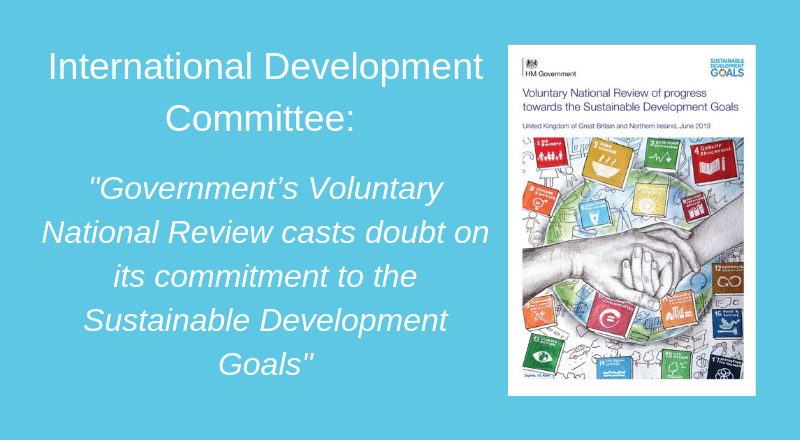 Governments Voluntary National Review casts doubt on its commitment to the SDGs